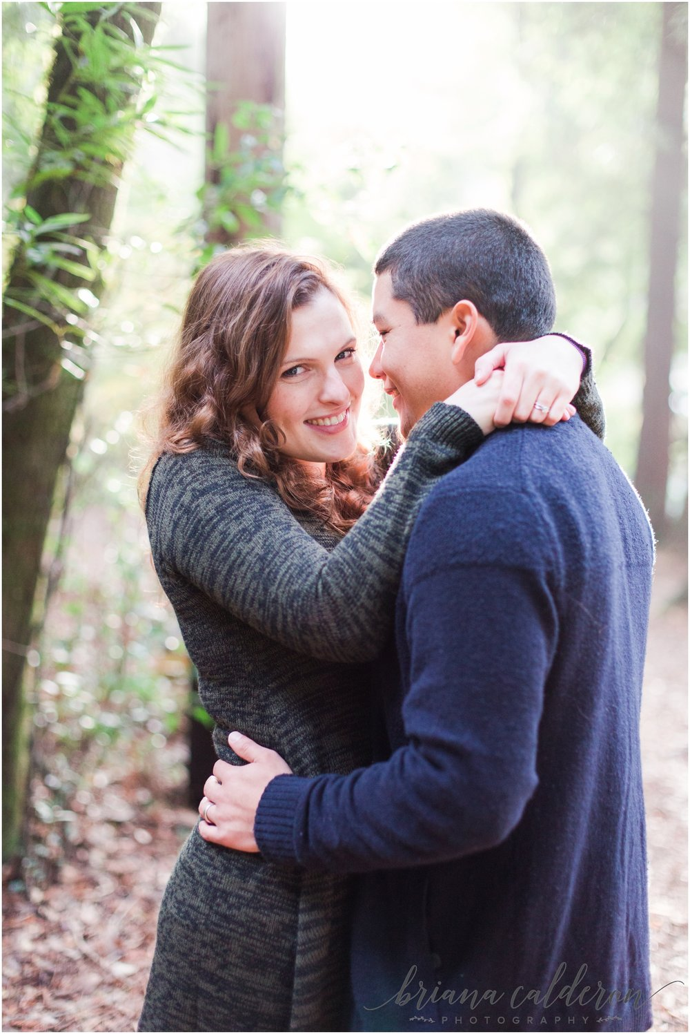 Engagement pictures at Henry Cowell Redwoods in Felton, CA by Briana Calderon Photography_1340.jpg