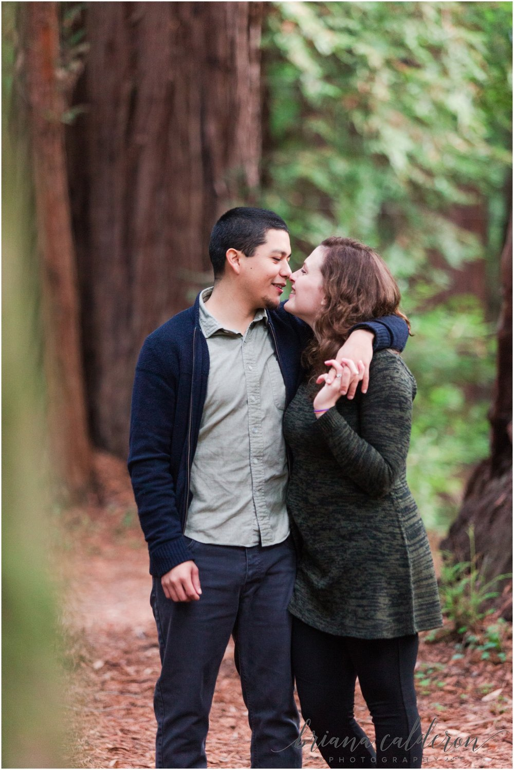 Engagement pictures at Henry Cowell Redwoods in Felton, CA by Briana Calderon Photography_1327.jpg