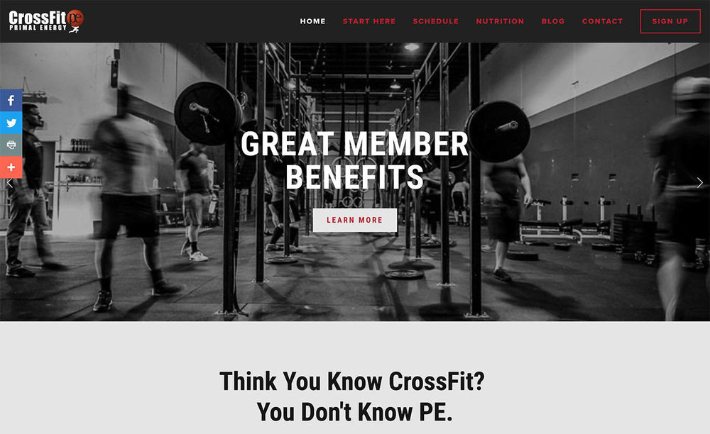 CrossFit Primal Energy Homepage