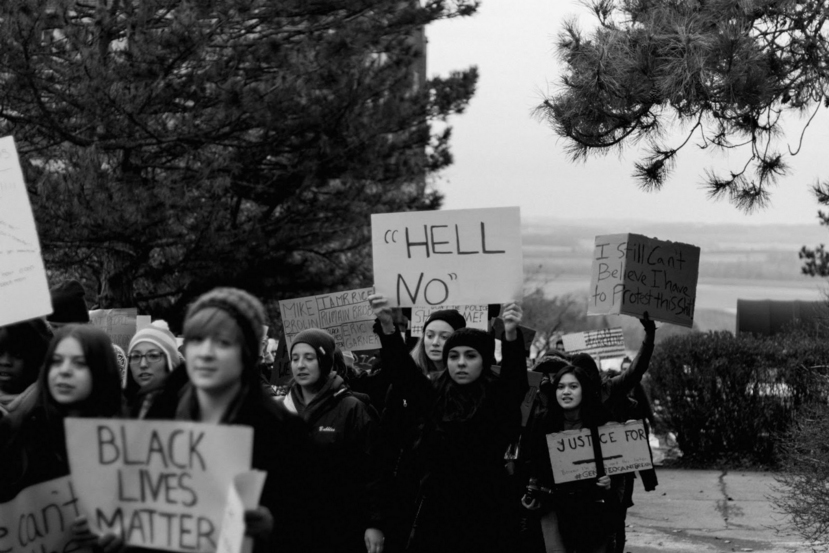 A Black Lives Matter rally at SUNY Geneseo in December 2014. Photo Credit: Samuel Aviles