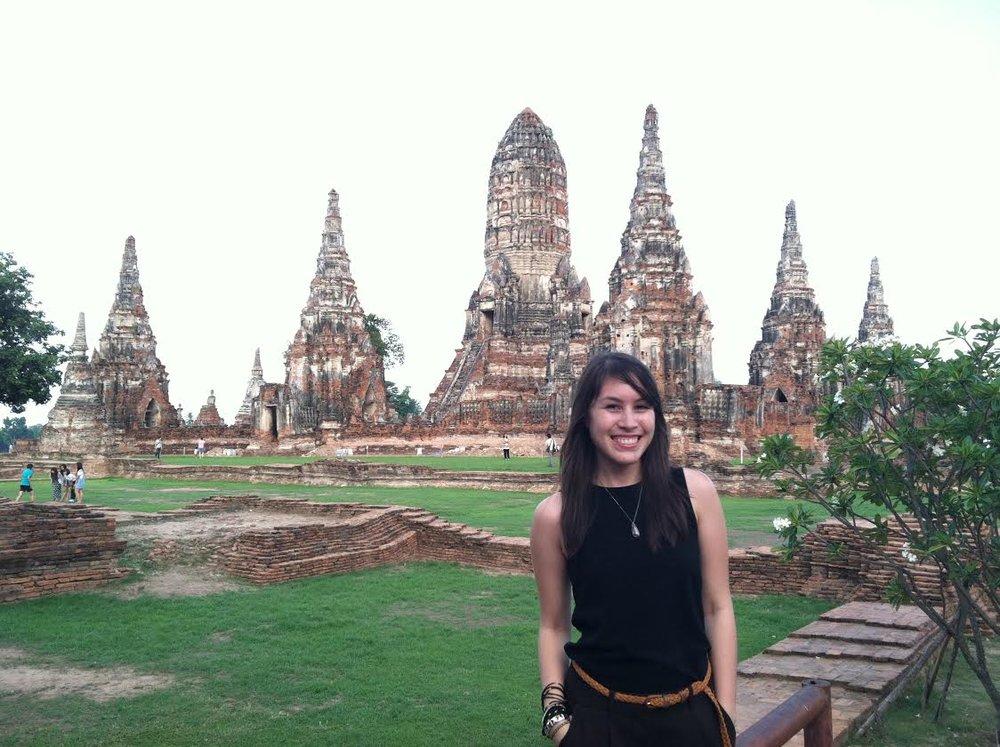 Visiting Wat Chaiwatthanaram in Ayutthaya, Thailand