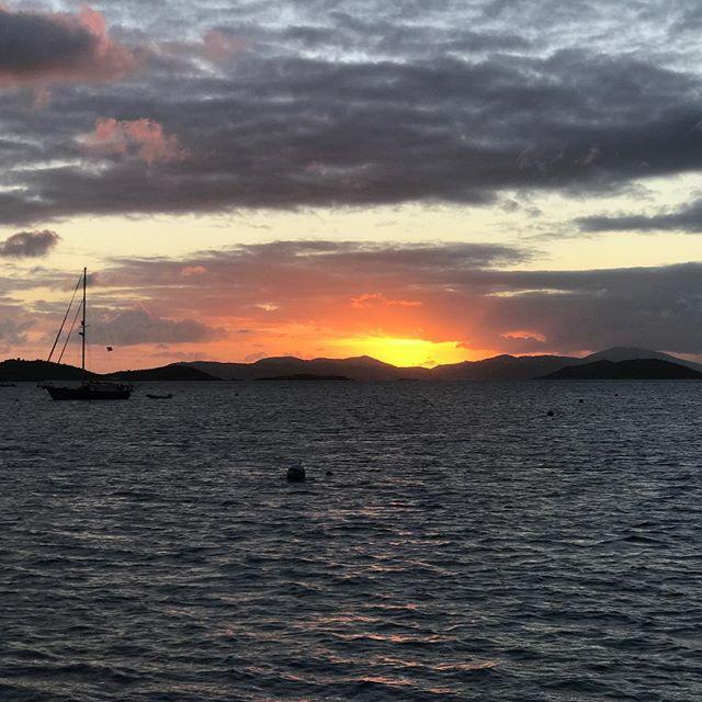 Anchored in Watermelon Bay #usvirginislands