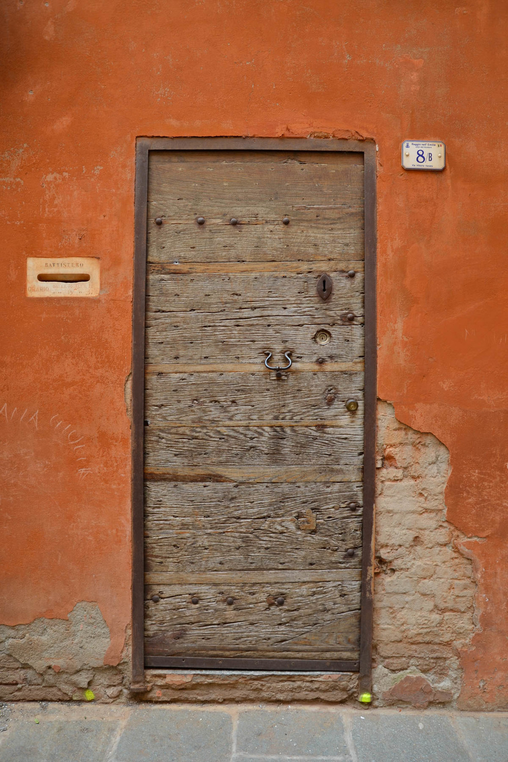 Door on orange