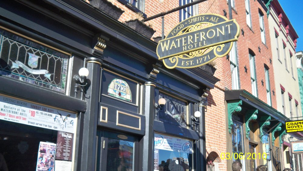 "My first bar gig was checking age cards out front of this bar in '99, the Waterfront aka ""The Homicide: Life On The Streets"" bar on weekend nights. So Orlando's was not the first time that David Simon-related television shows and your boy crossed paths in Baltimore."