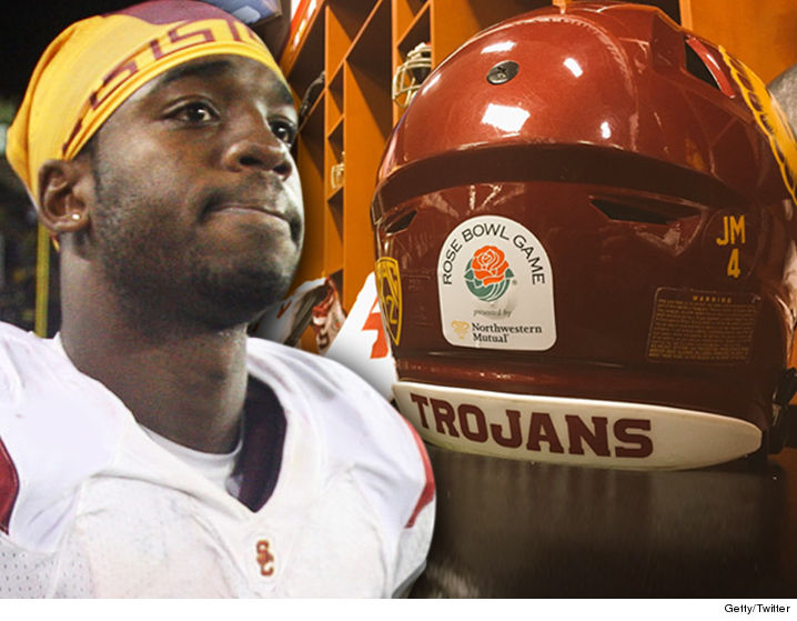 January 2nd Edit: It was nice to see the Trojans dedicate the 2017 Rose Bowl to Joe McKnight and take the field with his name and number on their helmets. It felt especially fitting since the 2009 Rose was probably Joe's biggest coming-out party on a national stage as a freshman, with 200+ all-purpose yards. Current star Trojan tailback Ronald Jones, until tonight #25 in your program, wore Joe's #4 in tribute. SC pulled out a miraculous 52-49 victory with a field goal as time expired, after being down by two touchdowns in the last five minutes.
