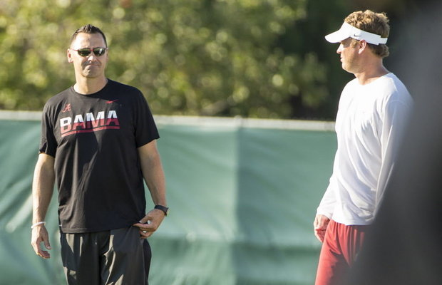 Two Old Trojan Coaching Comrades Pass The Dutchie on the Crimson Tide