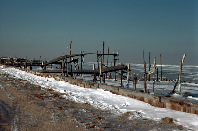 What was left of  Brigantine Castle  after an '87 fire.   Photo taken by Brigantine-raised Bill Koelling