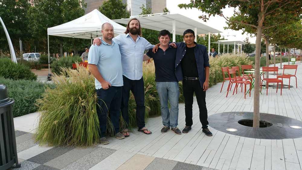 Local Plant Source team members Josh West, Zac Tolbert, Andy Fletcher and Fernando Avalos in Dallas.