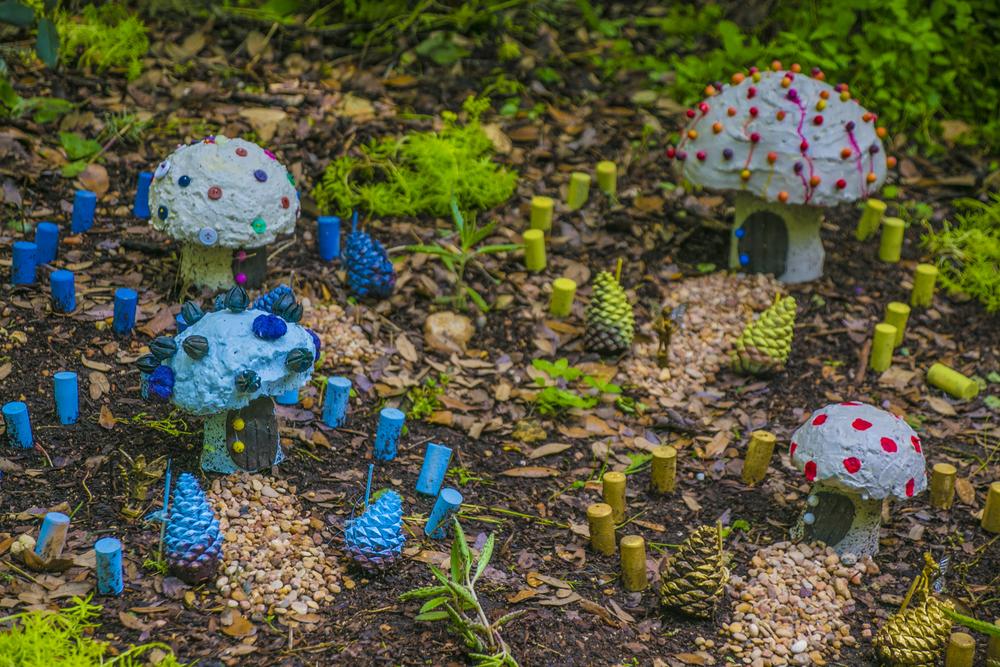 This mushroom village must have a homeowner association.
