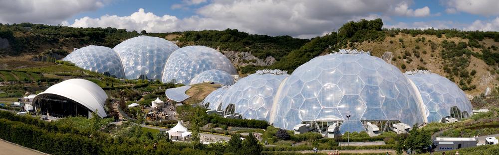 The Eden Project. Photo by Jürgen Matern/ Wikipedia.
