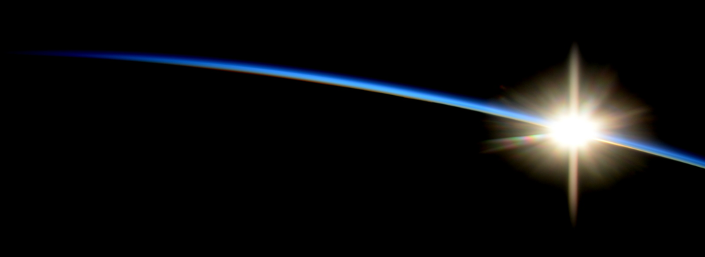 Image of sunrise photographed from the International Space Station. www.nasa.com
