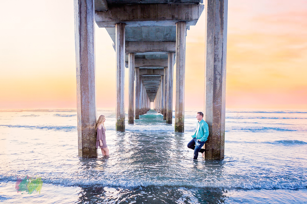 scripps pier sunset engagement session photography la jolla.jpg