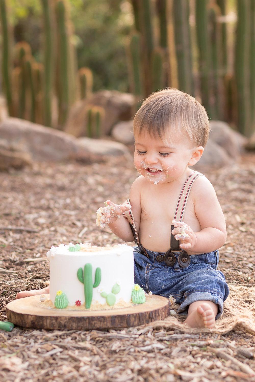 Cactus Cowboy Southwestern Cake Smash- Oh My Goddard Photography - San Diego Oceanside Cake Smash Photographer-19.jpg