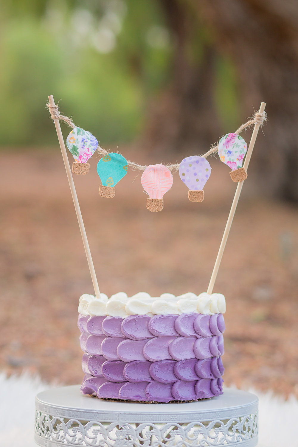 Hot Air Balloon Vintage Shabby Chic Girly Cake Smash - San Diego Oceanside Cake Smash Photographer-4.jpg