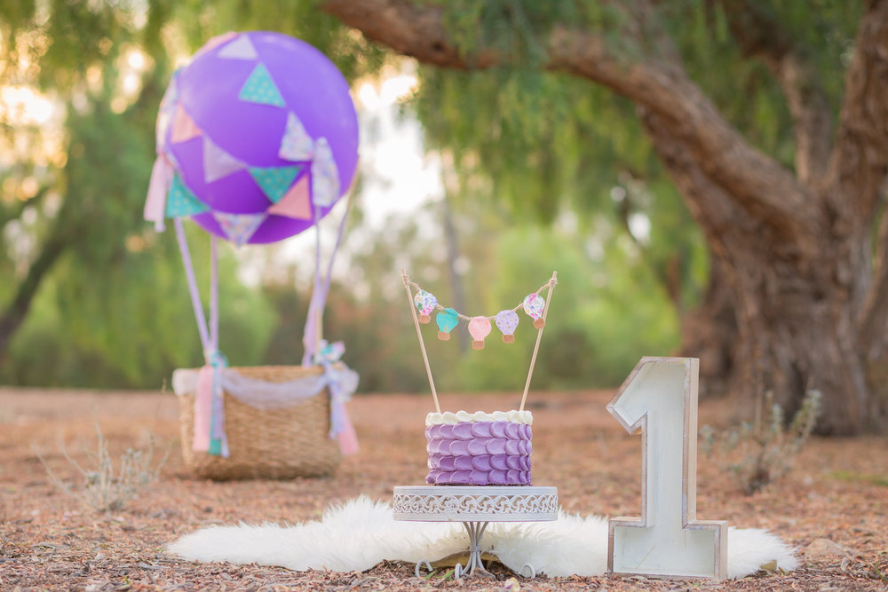 Hot Air Balloon Vintage Shabby Chic Girly Cake Smash - San Diego Oceanside Cake Smash Photographer-5.jpg
