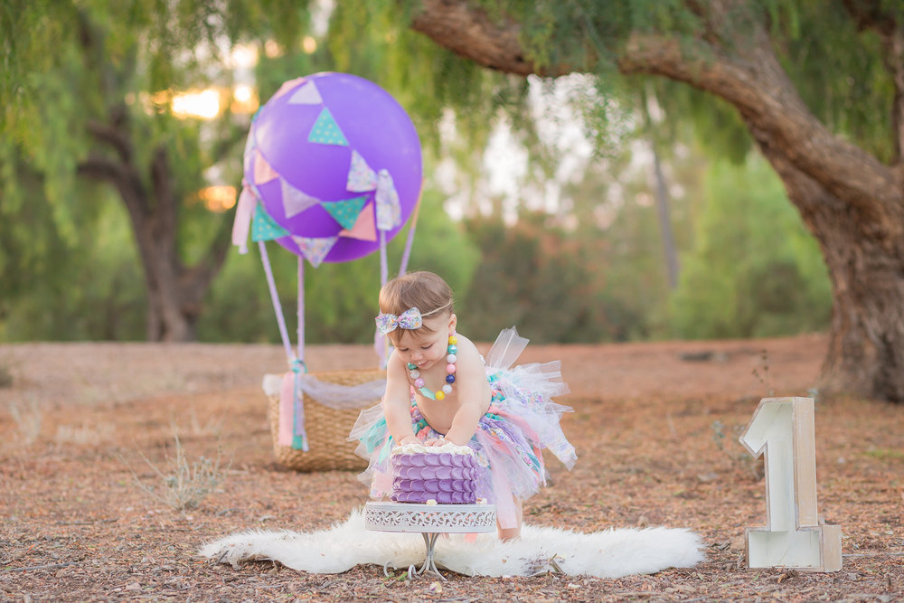 Hot Air Balloon Vintage Shabby Chic Girly Cake Smash - San Diego Oceanside Cake Smash Photographer-17.jpg