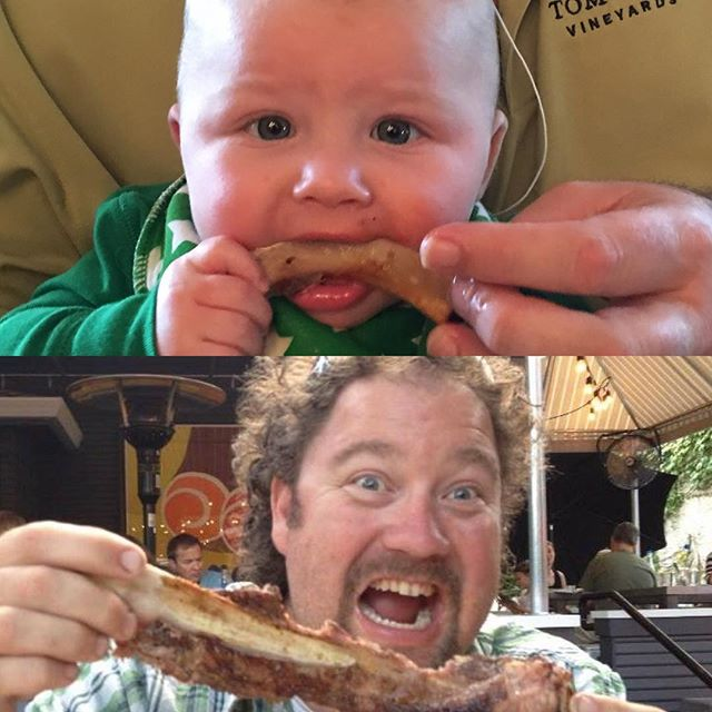 It's genetic. #myleprechauns #stpatricksday #firstfood