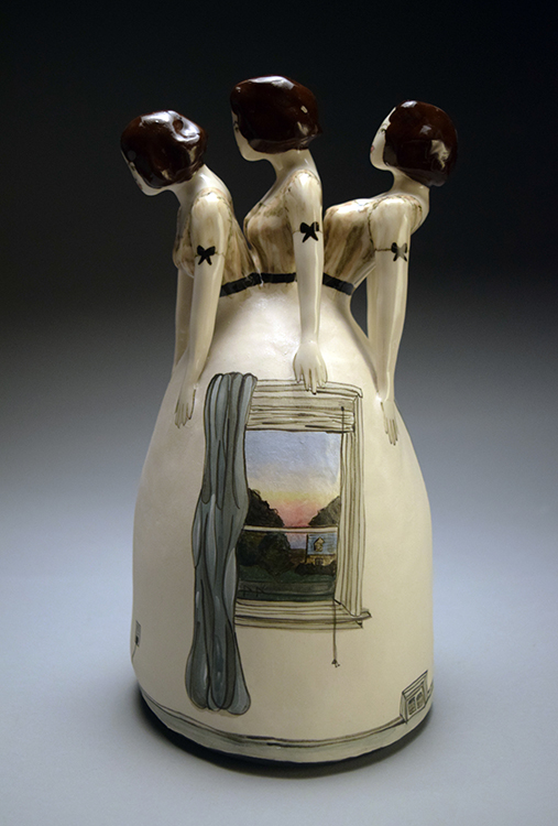"""Day after Day"" by Sara E. Morales- Morgan, porcelain with underglaze and glaze"