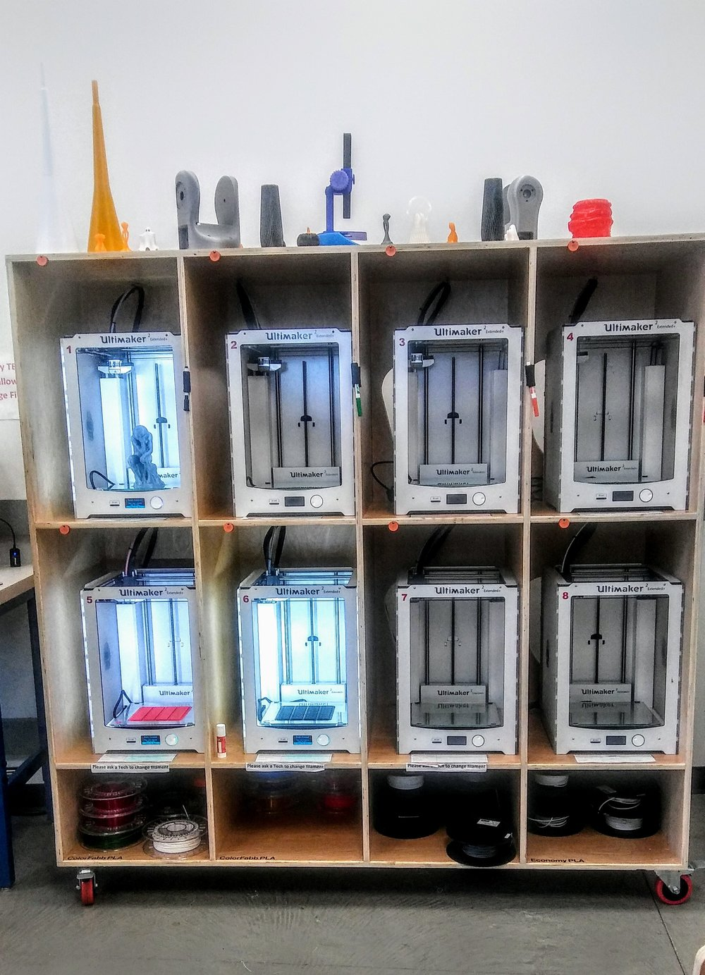 The wall of 3d printers!
