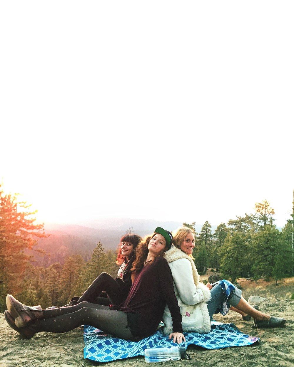 MENNA, April & Mouse Enjoying a Therapy Sunset
