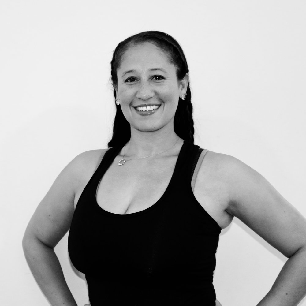 SHARLA SULLIVAN - Teaching Style: Motivational, tough (but understanding), fun and a little silly.Favorite jams to sweat to: Anything ratchet I can shake my booty toMega move I can't live without: Scrambled EggsYou may not know… I LOVE to sing, have 2 kids and have run more marathons than I can count on two hands.