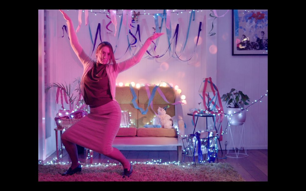 "Screen cap from ""Ann Wants to Dance"" by Papooz (Unofficial Music Video, 2017).  Dir. Rachel Owen, DOP. Sebastian Byrne"
