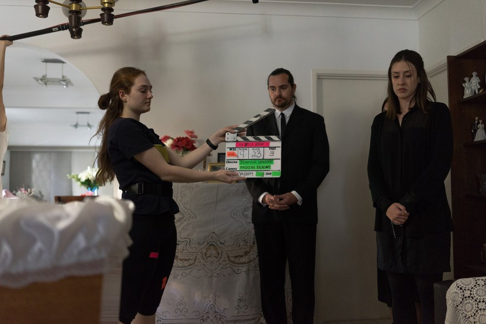 "BTS photo from episode 2 of ""Casa Bella"", currently in post-production - Dir. Jenn Leonforte.  Photo by  Samuel Bamford"