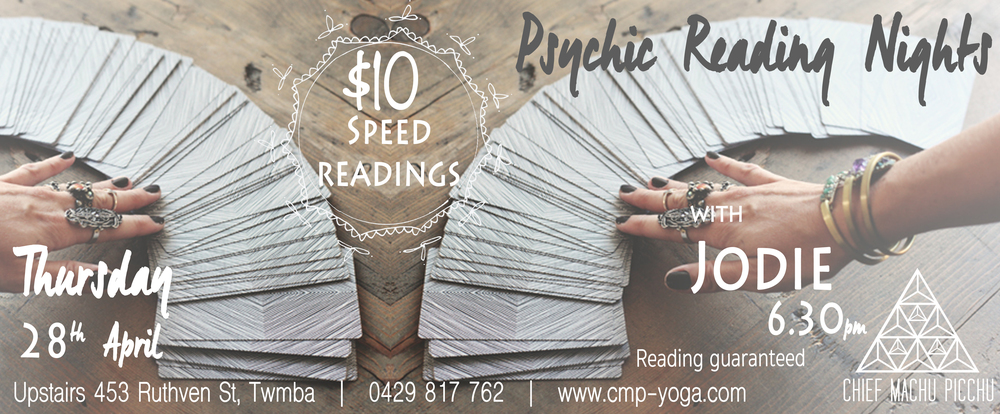 Speed Reading with Tarot | Jodie 28th April at Chief Machu Picchu at 6.30pm $10 Entry with reading guaranteed!