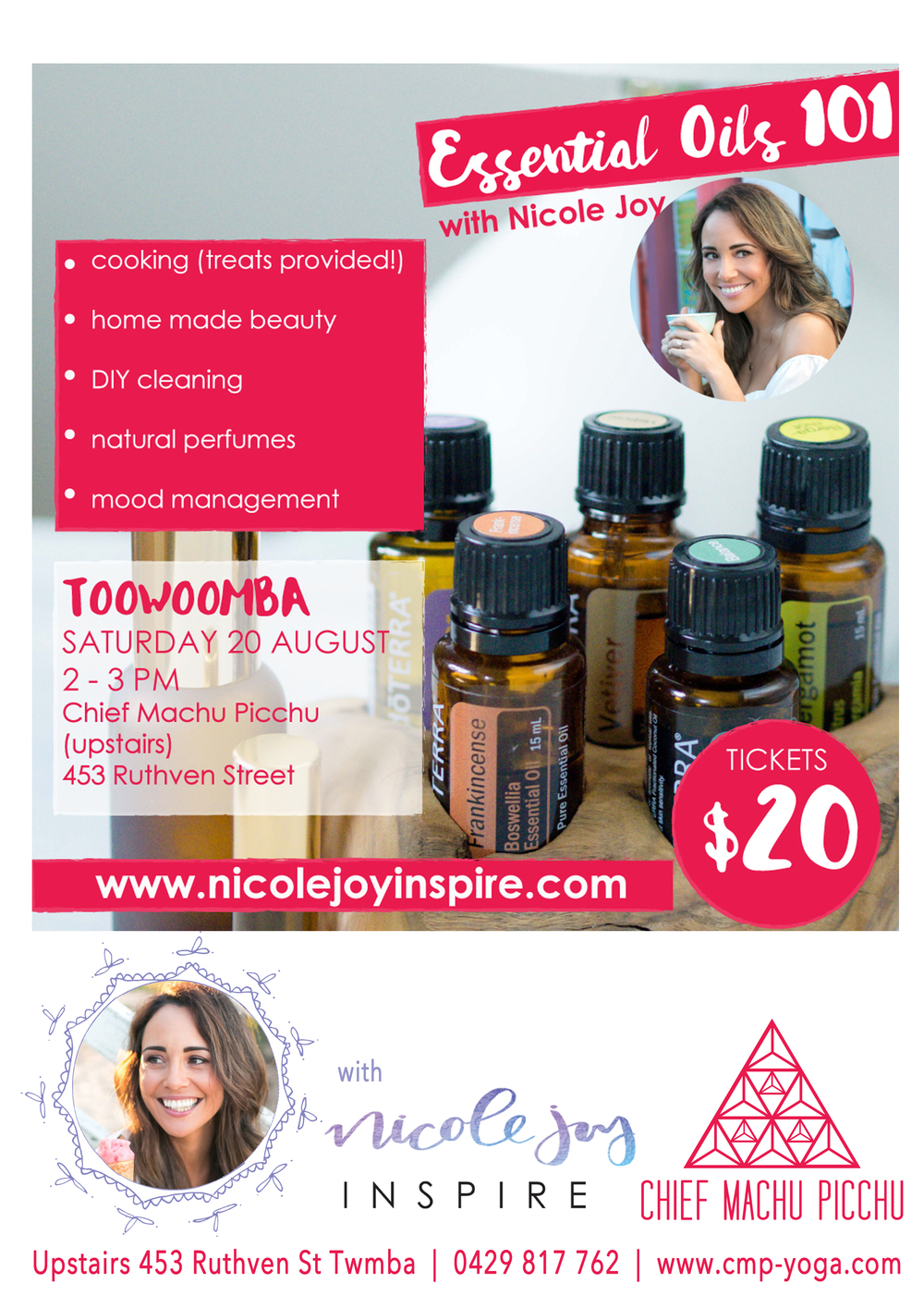 Essential Oils Workshops with the Gorgeous Nicole Joy xx