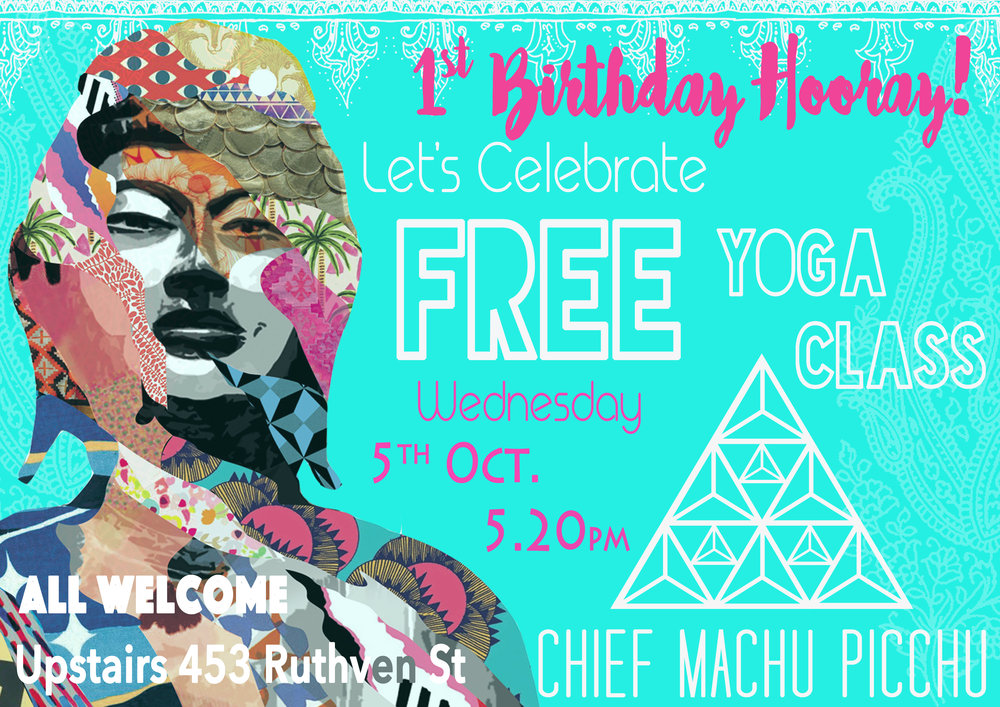 Happy 1st Birthday Chief Machu Picchu