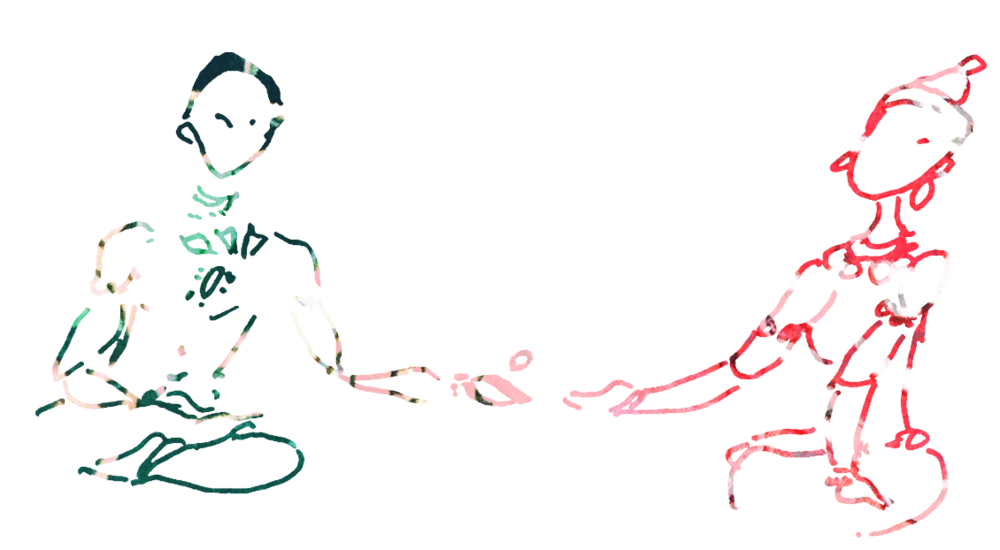 colour mural lovers art  drawing sketch turquoise red love connection healing .png