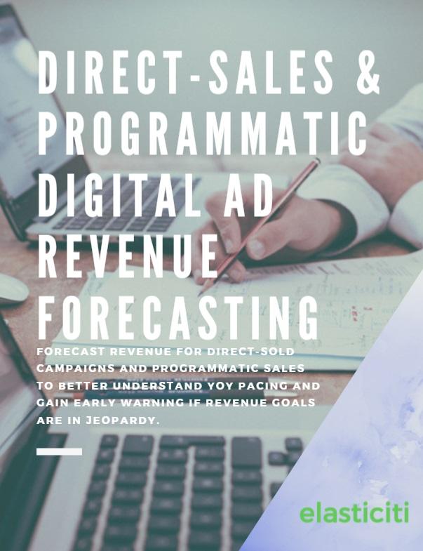 Direct-sales & programmatic digital ad revenue forecasting