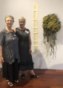 Wendy and me at the opening reception of Breath + Matter on July 18, 2018