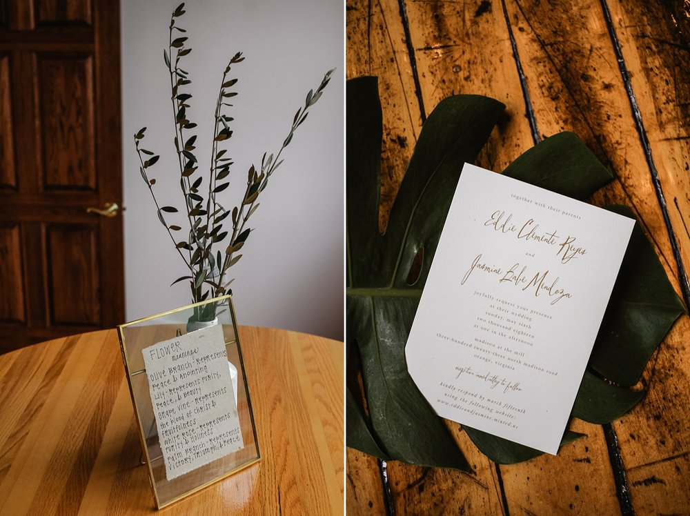 Jasmine & Eddie worked super closely with Briarwood Florist to create floral arrangements that had Biblical meaning . . . and also looked super cool and modern!