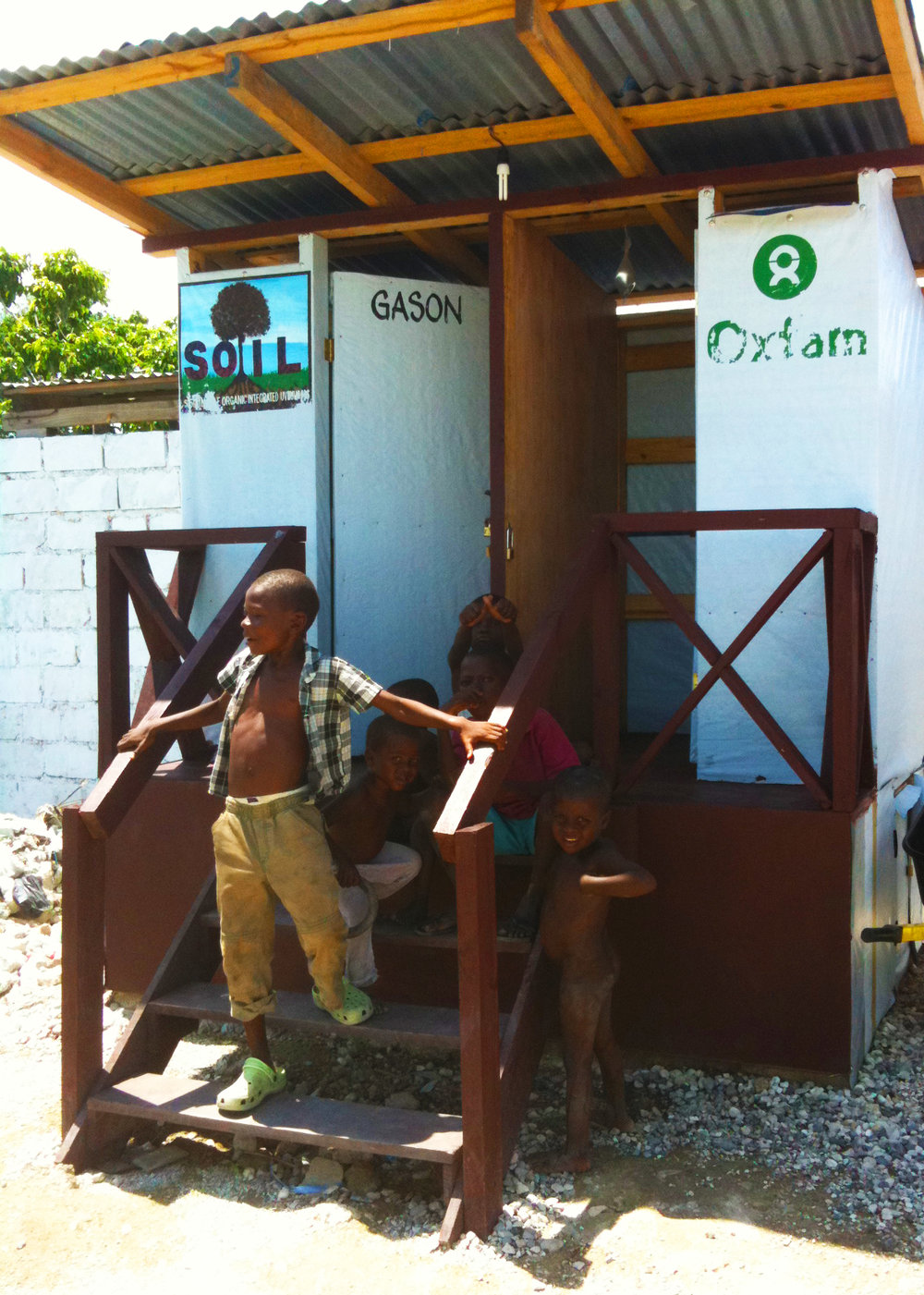 SOIL-run latrine in the Cite Soleil neighborhood of Port-au-Prince