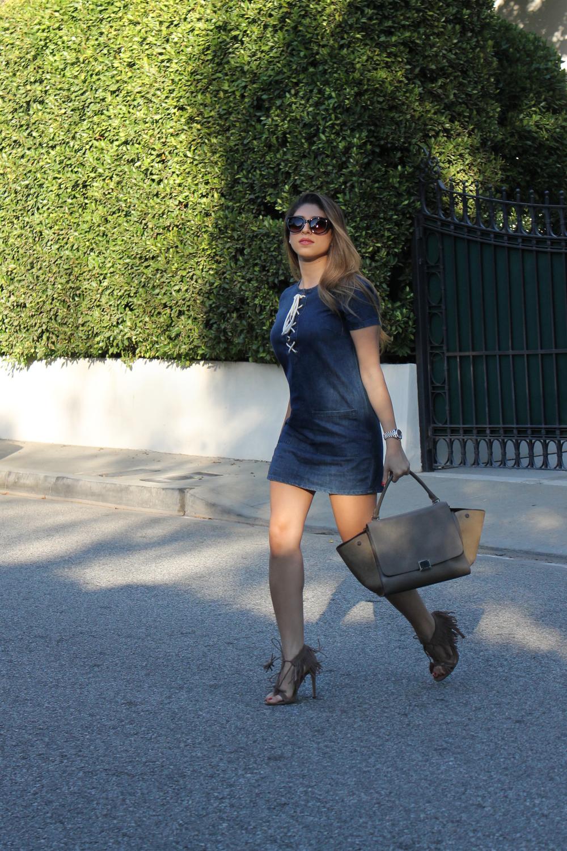 Mel Ronnie Denim & Fringe Outfit