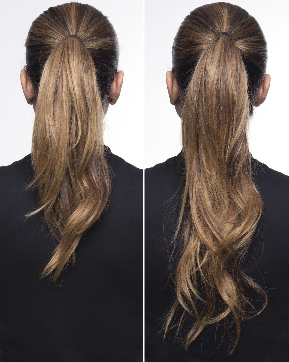 Mel-Ronnie-ponytail-trick-fauxnytail