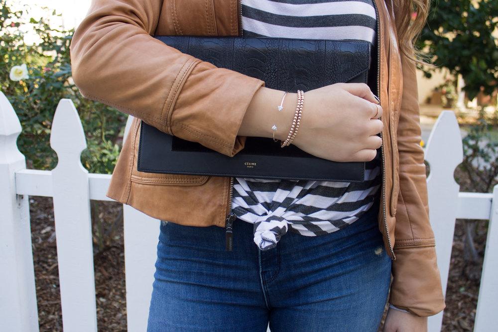 mel-ronnie-camel-leather-jacket-stripes-black-celine-envelope-clutch-patent-sandals-frayed-hem-jeans-round-sunglasses-4.jpg