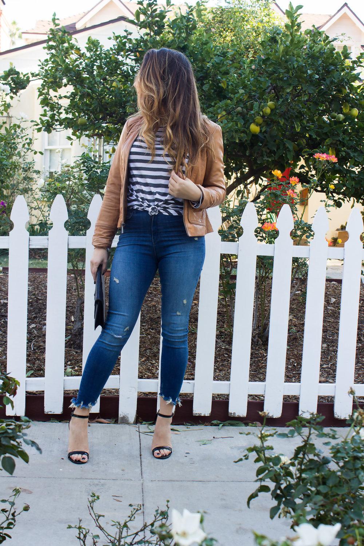 mel-ronnie-camel-leather-jacket-stripes-black-celine-envelope-clutch-patent-sandals-frayed-hem-jeans-round-sunglasses-5.jpg