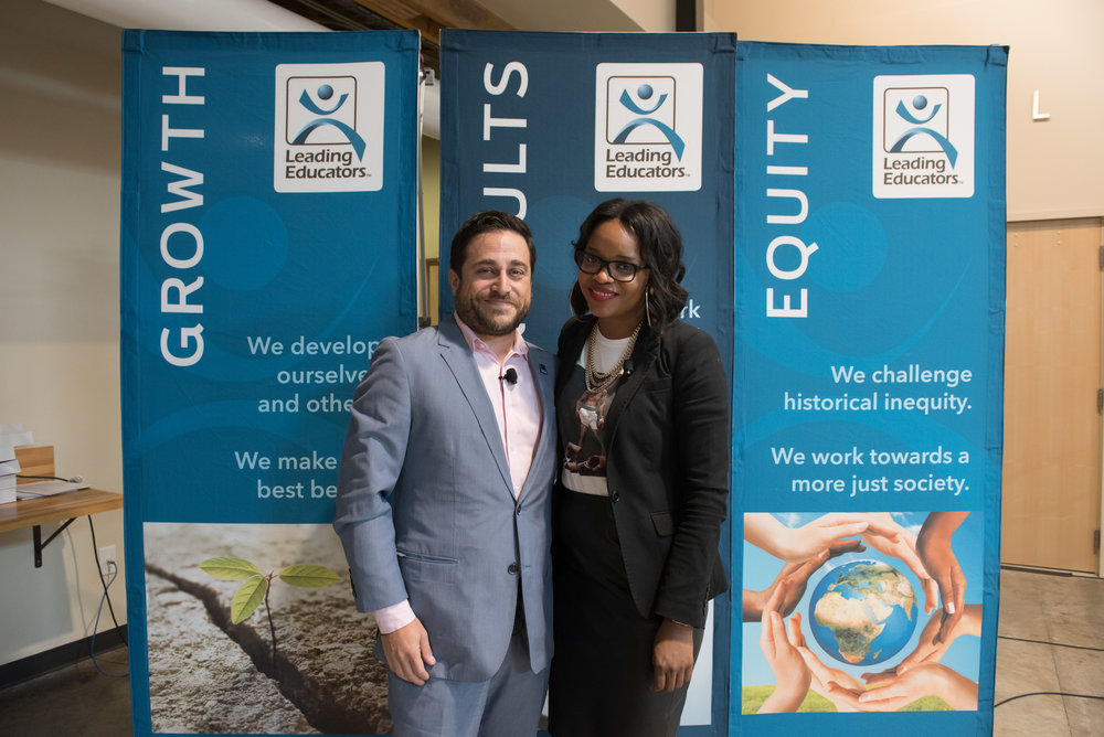 Leading Educators' CEO Jonas S. Chartock with Brittany Packnett, Vice President, National Community Alliances, Teach For America