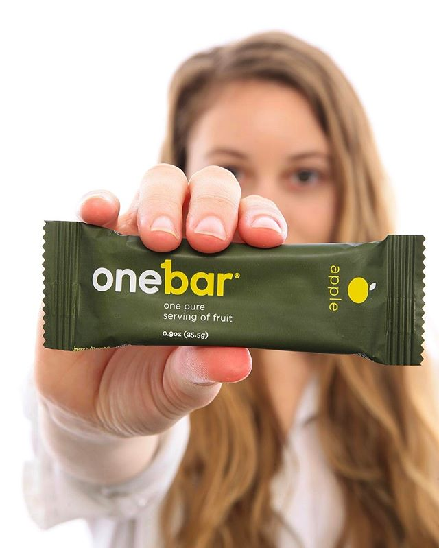 Secret snack weapon: one whole serving of fruit that fits in your palm/purse/pocket. When you're in a pinch, don't fall for refined sugar…keep it clean with a OneBar! #OneBarStories