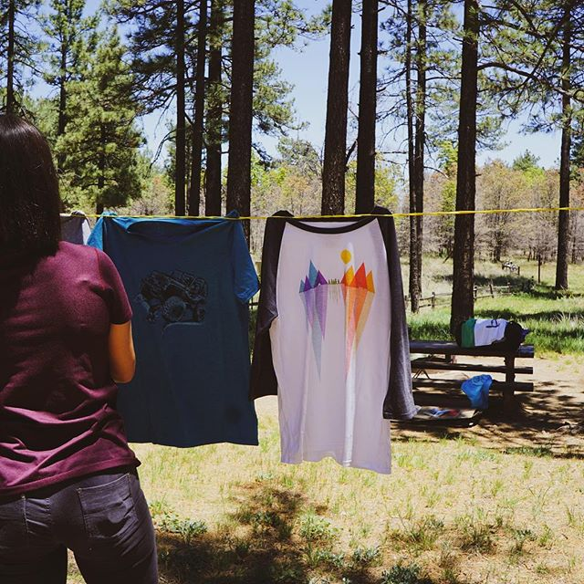 Even laundry day is better outside.  #camping #outsideisfree #outsideisbetter  #laundry