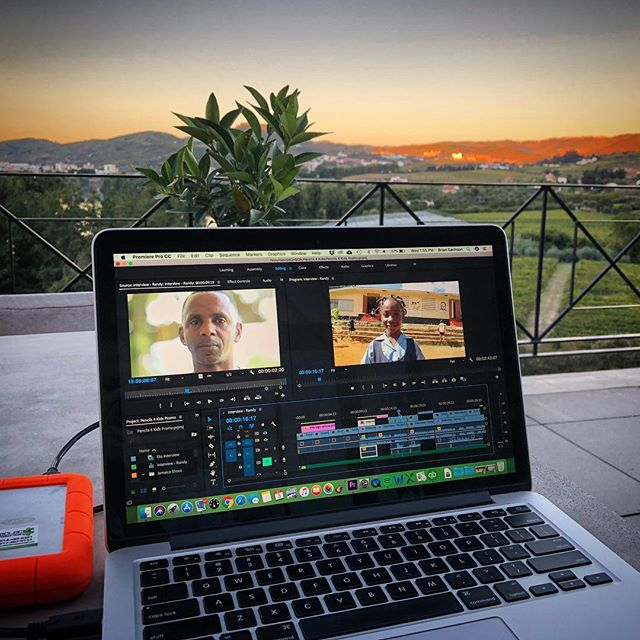 Edit anywhere. @pencils4kids #post #production #premiere #portugal #jamaica #nyc #edit #editday #productioncompany #eclectic