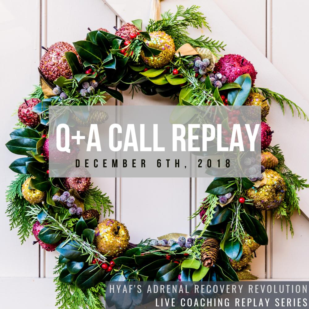 December Q+A Call