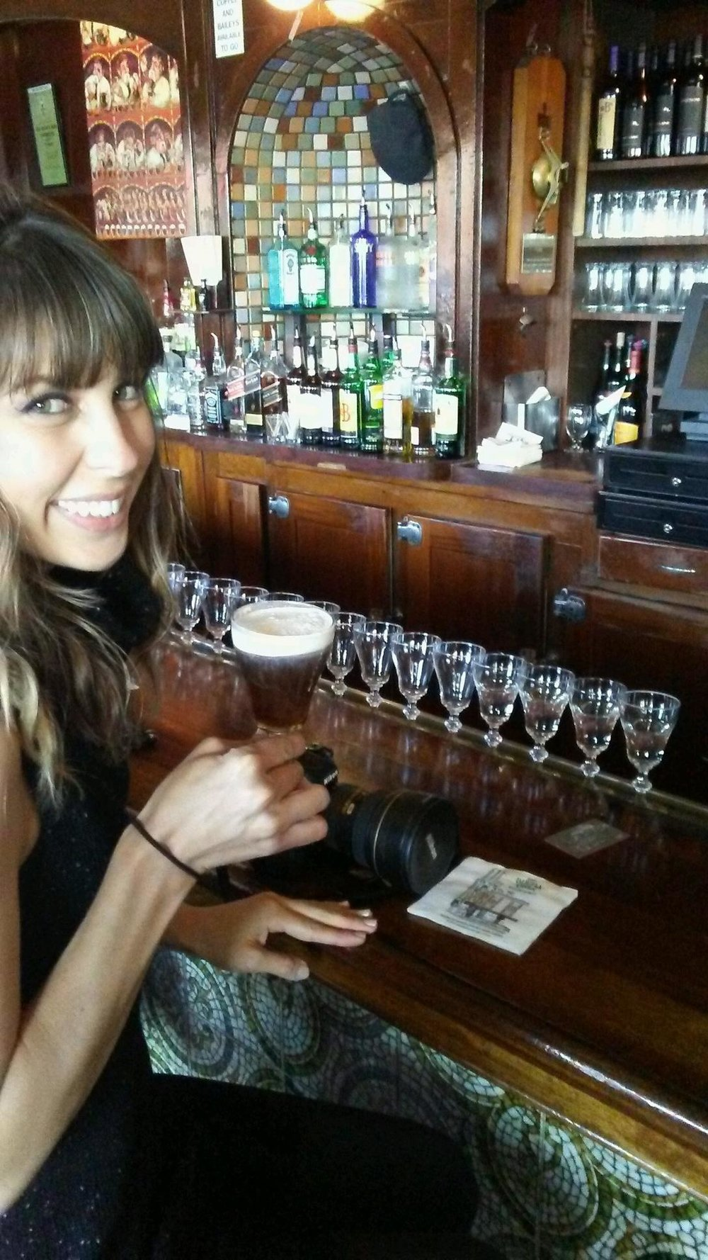 Cheers! At  Buena Vista San Francisco  enjoying an Irish Coffee.     Click here for the Perfect Irish Coffee Recipe