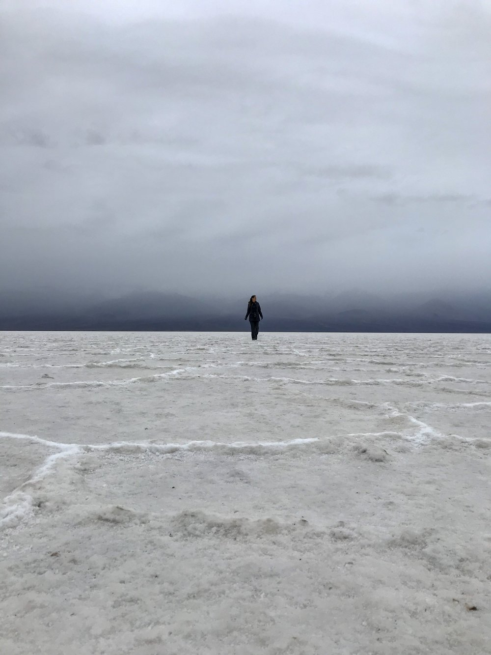 I feel like this photo captures my day. Nothing like coming out of storm and feeling at peace. Badwater Basin, Death Valley, CA  Photo By: Nichole McDaniel