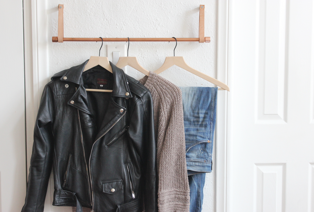 DIY Copper Leather Hanging Clothing Rail hometohem.com 2016_8