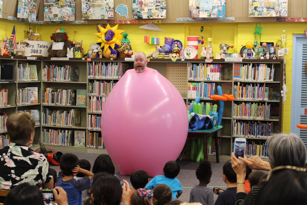 Jungle Jim performs in libraries all across the world