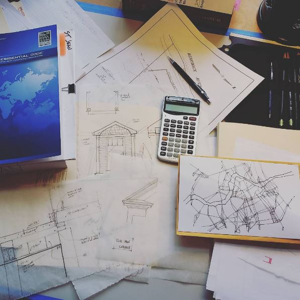 Sketches, Calculations, and Code Review. Only a portion of our architectural services.
