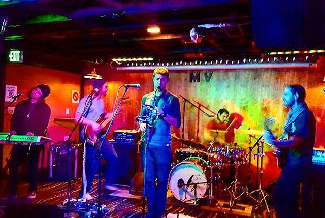 A photo of our set in Flagstaff at the Monte Vista Cocktail lounge! 📸: @zacheedwards #flagstaff #montevistahotel #livemusic #eldergrown #arizona